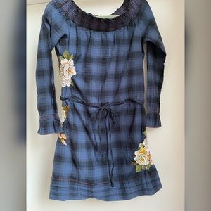 Johnny Was 3J Workshop Embroidered Plaid Dress